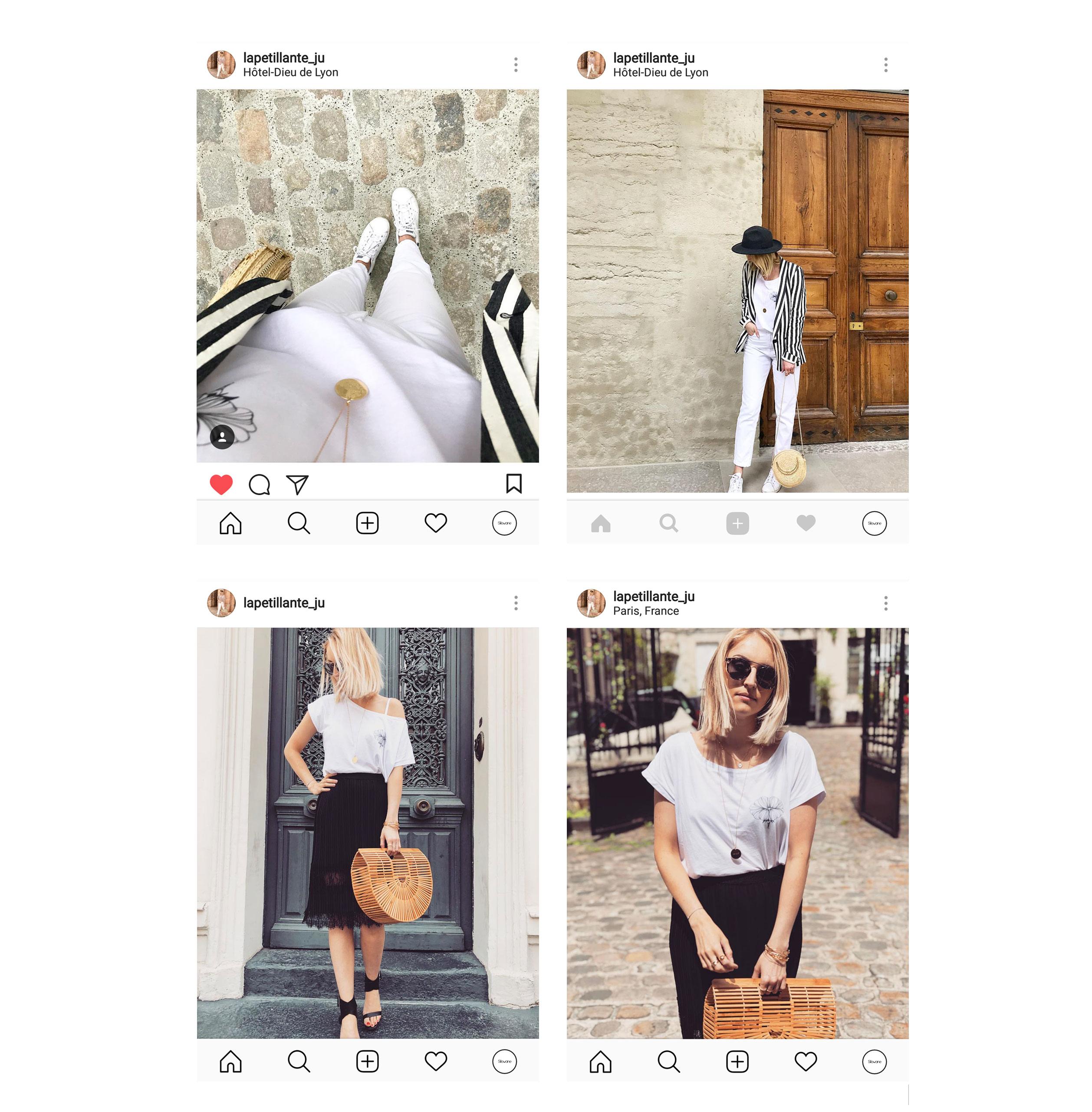 lapetillanteju avec notre t-shirt Bouche- instagram