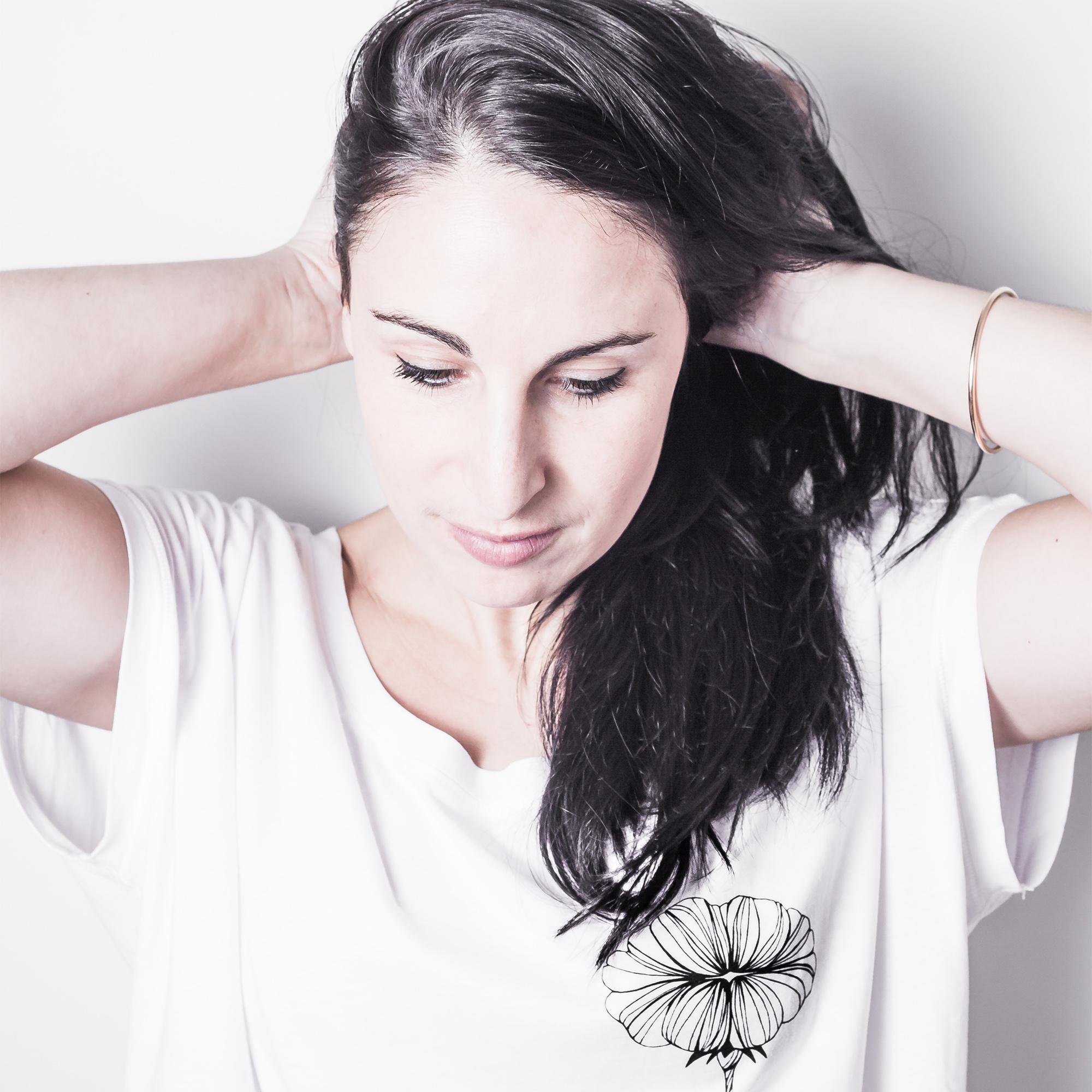 La creatrice de Silowane avec notre t-shirt Bouche