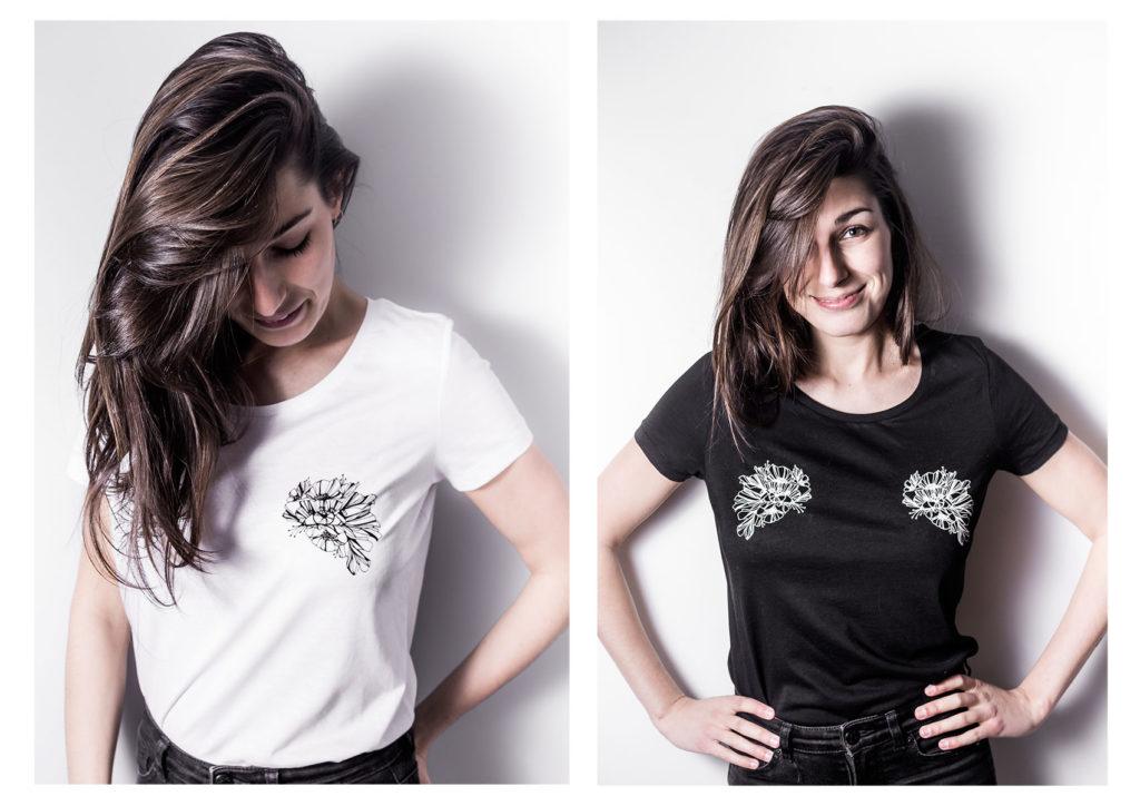 t-shirts eyes version noir et version blanche- regard végétal