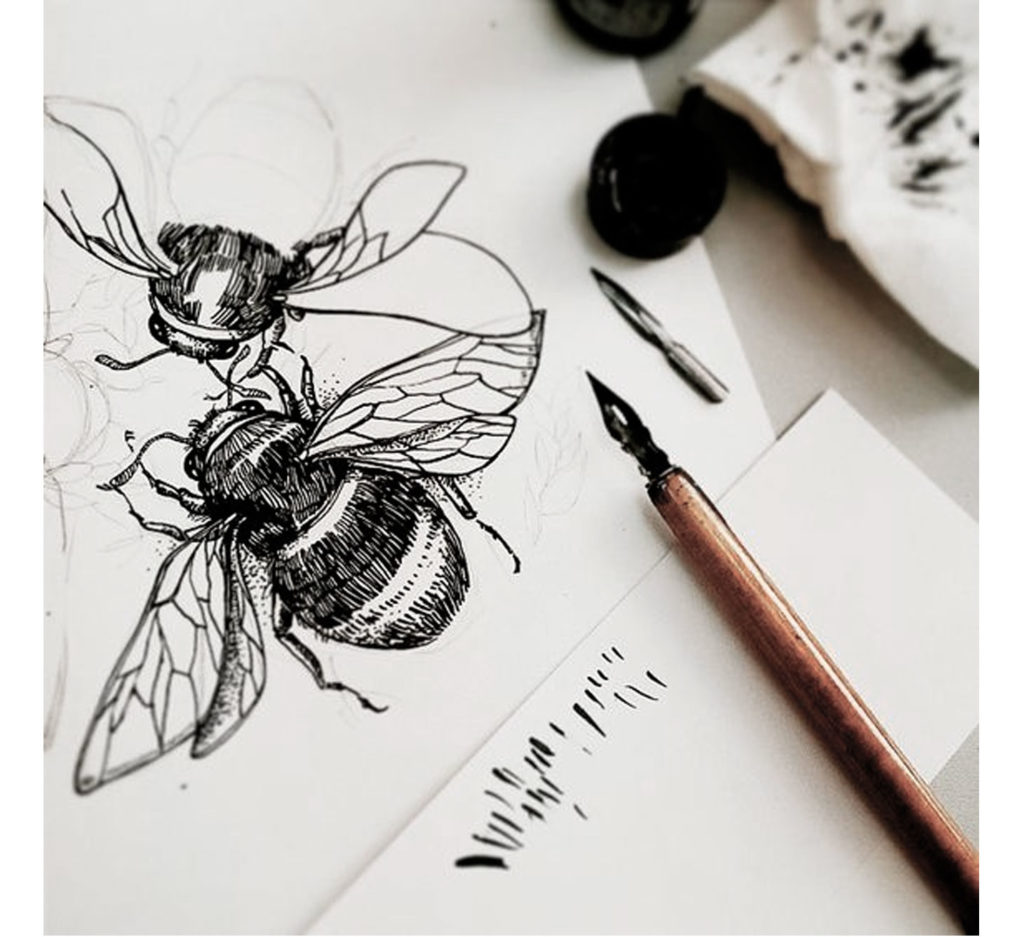illustration abeilles