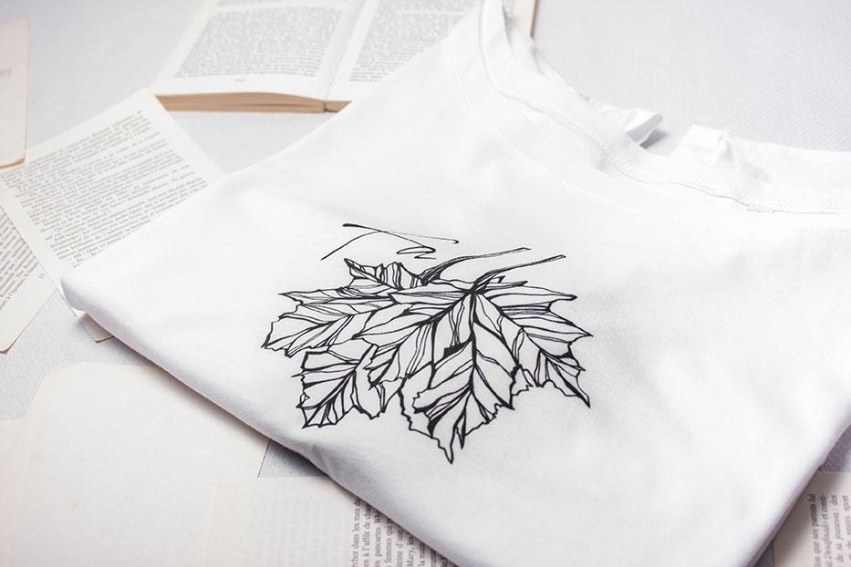 T-shirt en coton biologique silowane