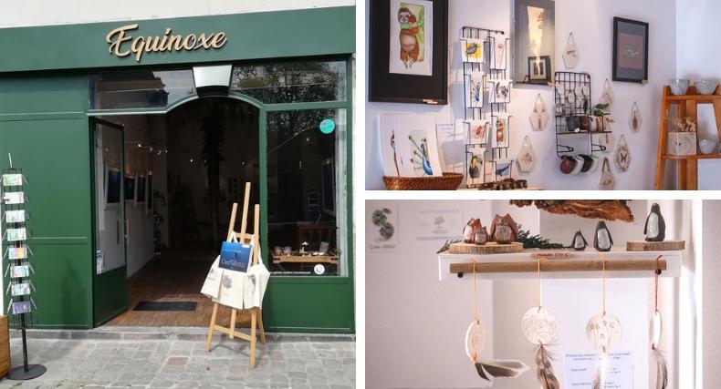 Galerie Équinoxe et sa boutique