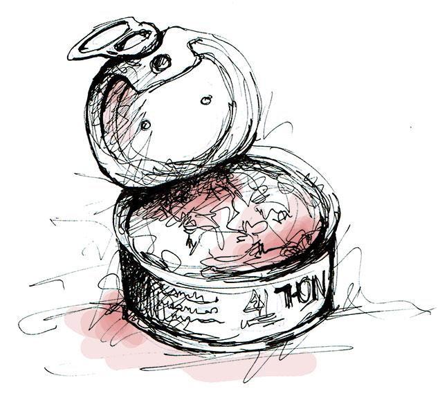 illustration thon en boite